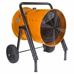 Our 30kW construction site heater comes equipped with shielded plugs, ensuring there's no way it will arc off of metal or another circuit.